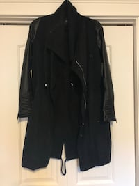 Jacket with Faux Leather Sleeves Riverview, E1B