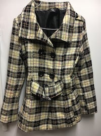 women's white and black peacoat - xs Whitby, L1N