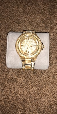 round gold Michael Kors chronograph watch with link bracelet Washington, 20002