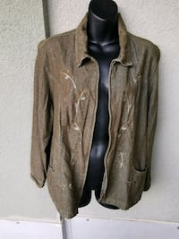 Green & bronze jacket with leaves Kitchener, N2G 4X6