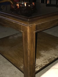 GLASS top wooden end table... Glen Burnie, 21061
