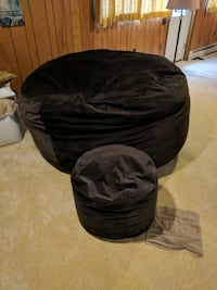 black and gray bean bag chair Fairfax, 22030