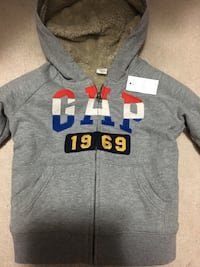 Brand new with tag- Gap sweater with hoodie size 4 Milton, L9T 7V3