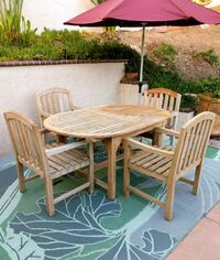 Yes it's Teak - Four Armchairs and a Table   San Diego, 92129