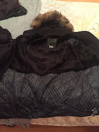 Tna black and gray fur trim jacket                                        excellent condition. 1 year old. pick up in mississauga only Mississauga, L4Y 3Y9