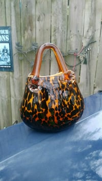 Hand blown glass Purse Independence, 64053