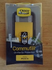 blue and black Otterbox iPhone case