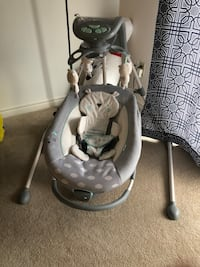 Baby's gray and white cradle and swing London, N6H 0B1