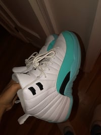 Pair of white-and-green air jordan 12 size 7 ( brand new ) Bethesda, 20814