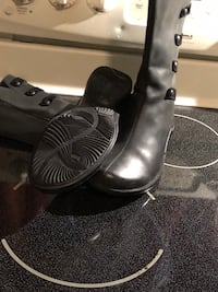 Gorgeous black leather merrill boots!!!9 1/2 med