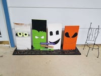 four trick or treat panel paintings Alexandria, 22315