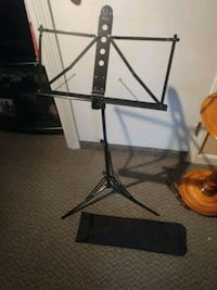 Music book folding stand with carry bag