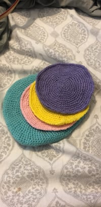 Hand made knitted coasters from Palestine Vienna, 22180