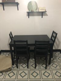 Black ikea dinning table with 4 chairs Syracuse, 13208