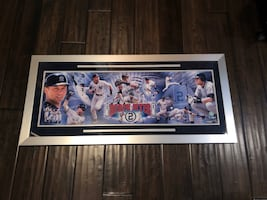 Derek Jeter Signed Panoramic Collage