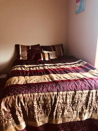 Red and Gold Comforter Bedding set