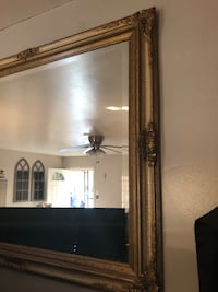 Vintage gold trimmed mirror 46 by 36 Santa Ana, 92707