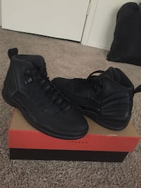 pair of black Nike Air Force 1 shoes with box District Heights, 20747