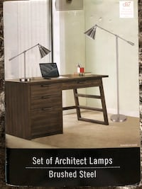 NEW! DSI Architect Lamp Set - Brushed Steel Farmers Branch, 75234