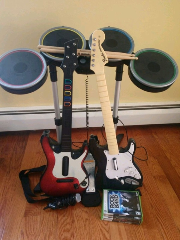 Rock Band/Guitar Hero XBox 360 bundle