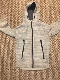 Gray and black zip-up hoodie small