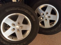 2012 Jeep Wrangler Rims w/tires HAGERSTOWN