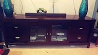 black wooden TV stand with flat screen television Germantown, 20874