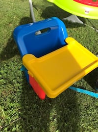 Yellow, blue, and red booster seat high chair Loveland, 45140