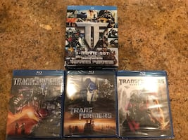 Four blu-ray disc cases