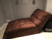 Brown suede chaise lounge Bolton, L7E 2Z5