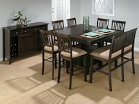 Nice used dining table with storage/built in leaf