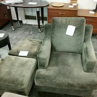 Velour chair and ottoman Oakville, L6L 5N1