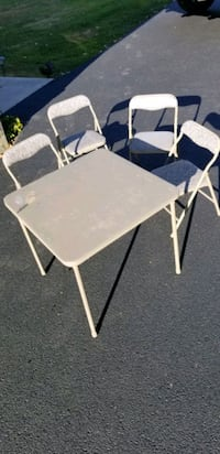 Kids table and 4 folding chairs. Montgomery, 12549