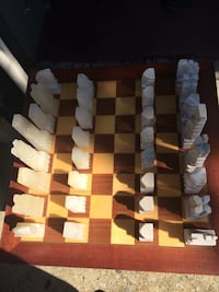 Chess set  Hand carver marble chess set.