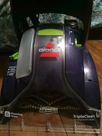 black and gray Bissell upright vacuum cleaner Omaha