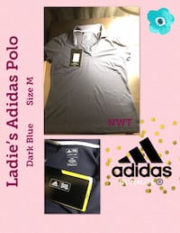NEW With Tags Women's Adidas Polo Top Size M London, N6A 1J1