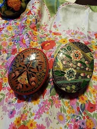2 vintage painted boxes Newport News, 23608