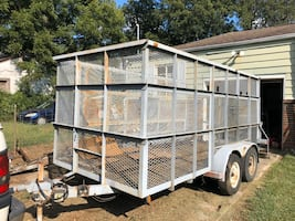 16x8ft enclosed trailer with brakes
