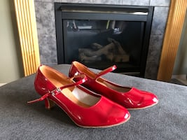 Red Latin Dance Shoes
