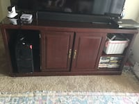 brown wooden TV stand with cabinet Tampa, 33647