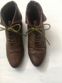 $10.00 Brown Laced Booties Toronto