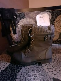 Nice brand new ladys size 9 leather boots Red Deer, T4R 0H8