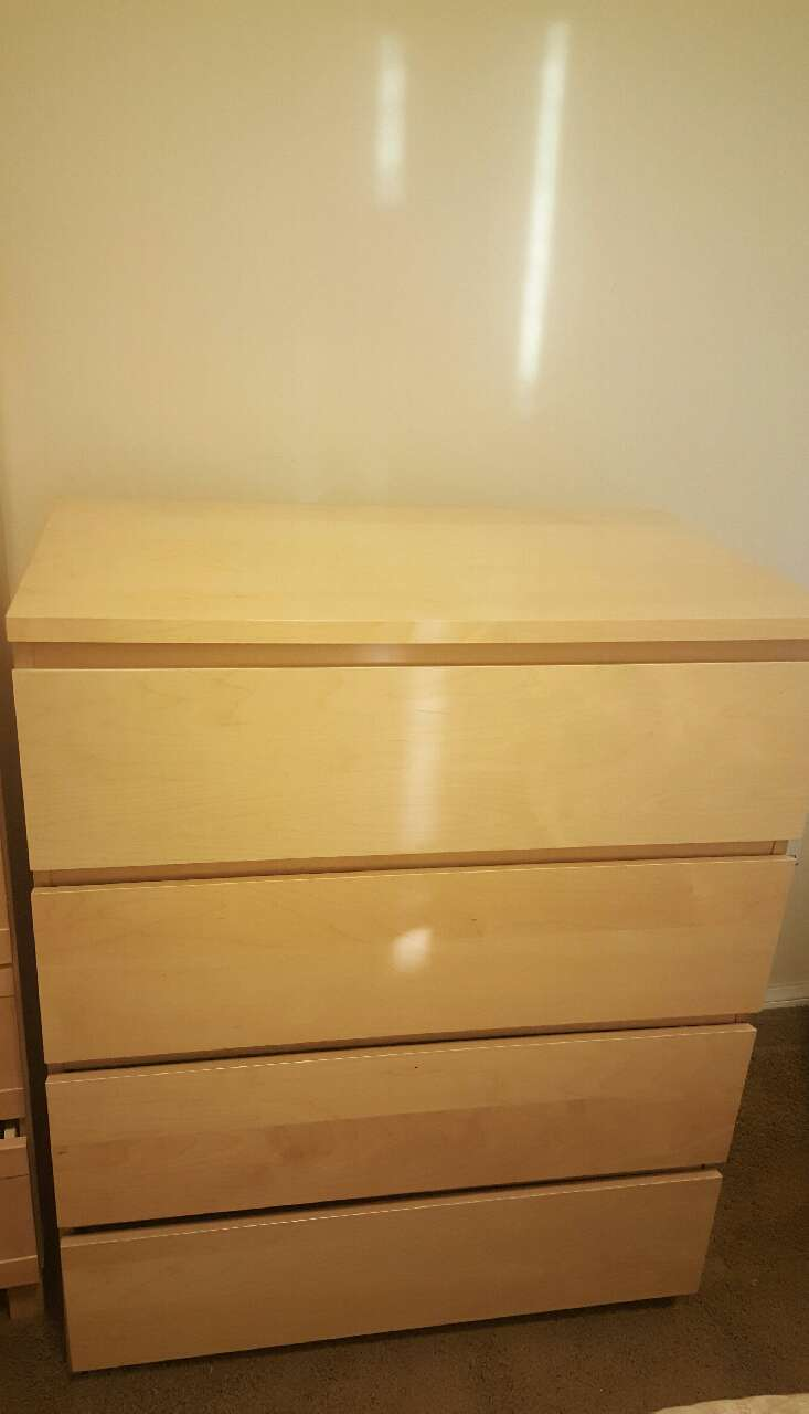 Ikea Malm 4 Drawer Dresser