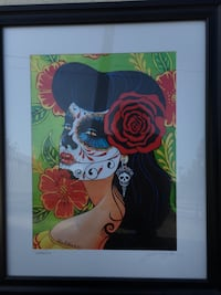 woman with red rose illustration Covina, 91723