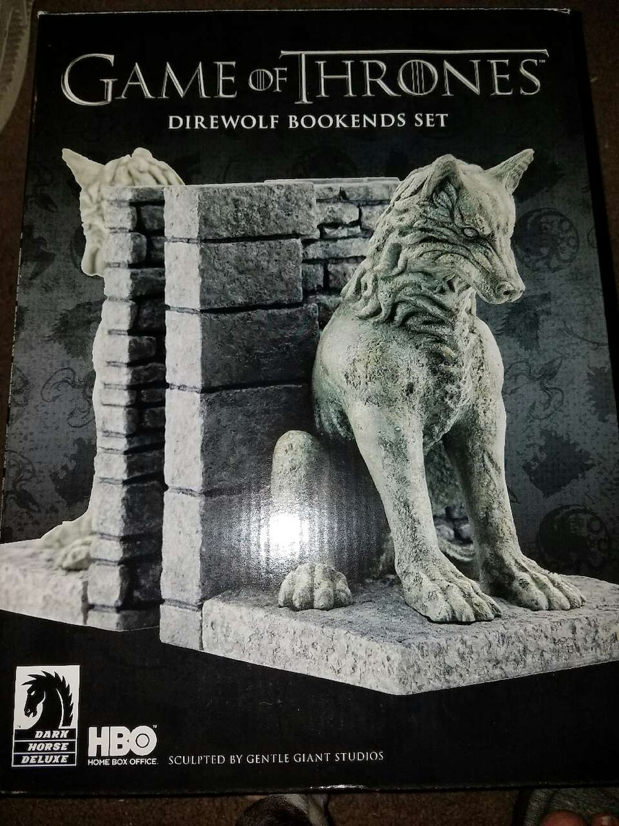 Letgo game of thrones dire wolf bookends in anderson in - Dire wolf bookends ...