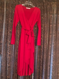 women's red long-sleeved dress Washington, 20024