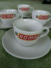 """Roma"" 3.2 oz Espresso Cup and Saucer Set Melbourne"
