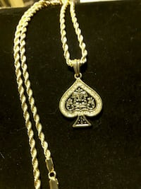 Stunning Poker Pendent & Rope chain Ladson, 29456