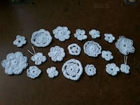 Pure White Crochet Flower Appliques  ☆listed elsew Airdrie, T4B 0Y3