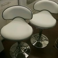 two white leather padded bar stools Abbotsford, V2T 4H4